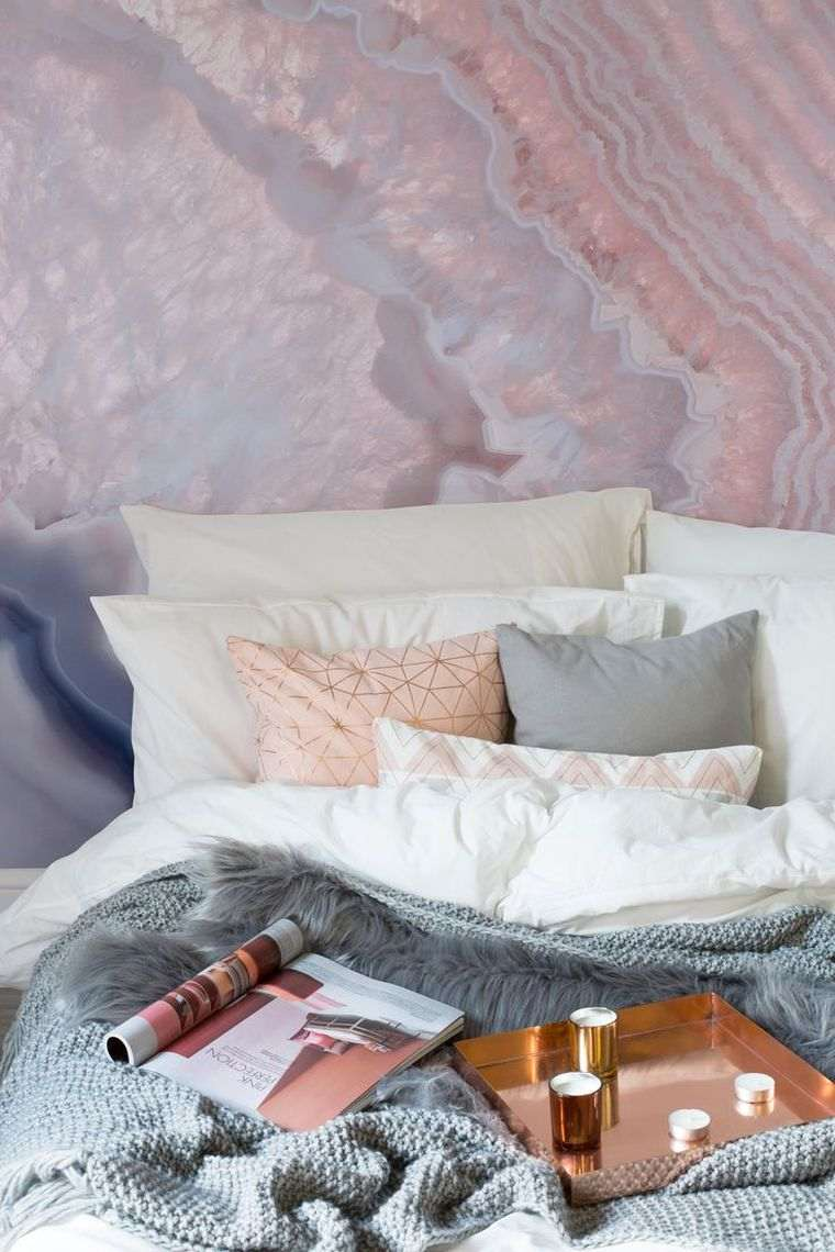 Pink and gray bedroom   trendy decor ideas for adult and child   A ...