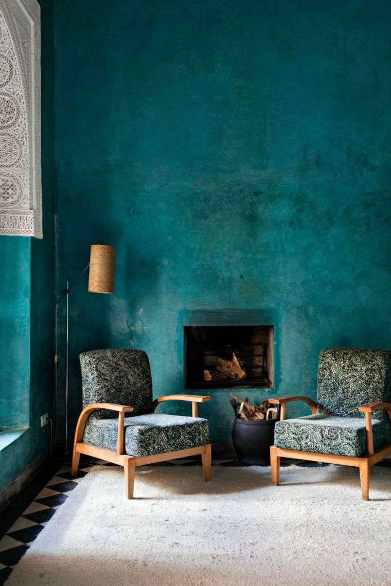 Picture of: Deco Stue Bla And Maleri Mobler Og Tilbehor Paintonline Info