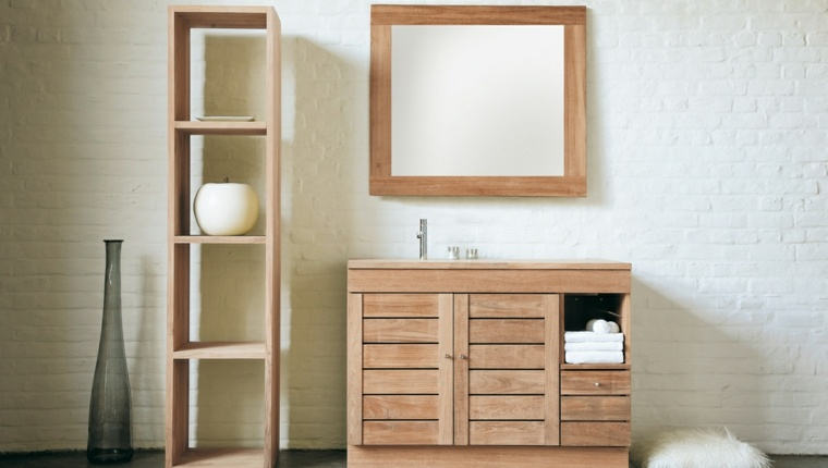 Wood Bathroom Furniture 35 Rustic, Real Wood Bathroom Furniture