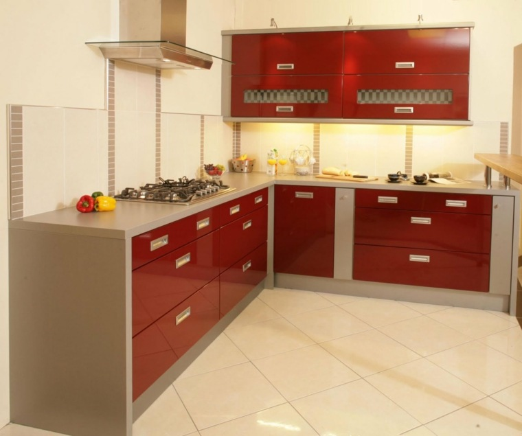 Kitchen Color Idea The Red And Gray Kitchen A Spicy Boy