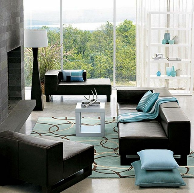 The Living Room Carpet Color On Your, Black White And Turquoise Living Room Ideas